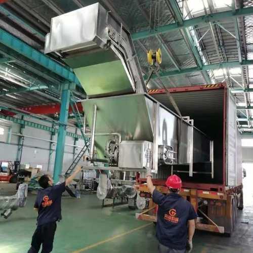 tomato processing machine shipment