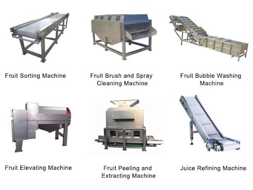 Figure 6 Types of Fruit Processing Machine